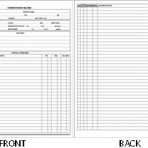 Item# 65-8400-WH  Owner/Patient Record (White)