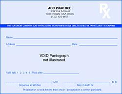 PC4-HS-2 High Security Prescription Pads
