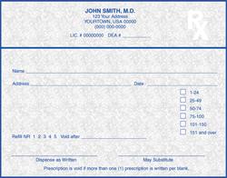 PC4-IN-1 IN Tamper Resistant Prescription Pads