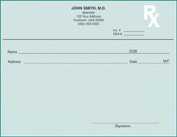 PC4-WY WY Tamper Resistant Prescription Pads