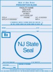Item# PC41-NJ  NJ Tamper Resistant Prescription Pads