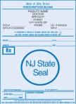Item# PC41-NJ2  NJ Tamper Resistant Prescription Pads