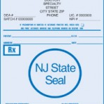 Item# PC41-NJ2  NJ Tamper Resistant Prescription Pads