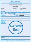 Item# PC42-NJ2  NJ Tamper Resistant Prescription Pads