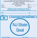 Item# PC43-NJ  NJ Tamper Resistant Prescription Pads