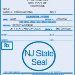 Item# PC44-NJ-1  NJ Tamper Resistant Prescription Pads