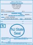 Item# PC44-NJ-2  NJ Tamper Resistant Prescription Pads