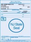 Item# PC45-NJ-1  NJ Tamper Resistant Prescription Pads
