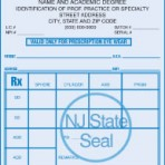 Item# PC46-NJ-1  NJ Tamper Resistant Prescription Pads