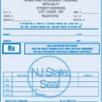 Item# PC47-NJ-1  NJ Tamper Resistant Prescription Pads